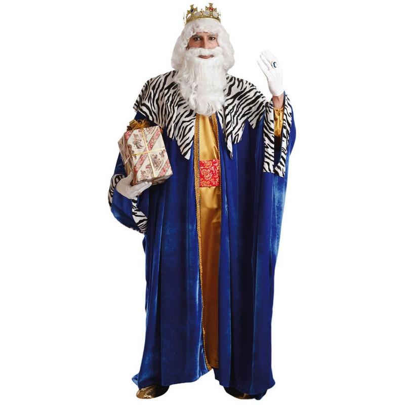 Disfraz rey mago azul lujo