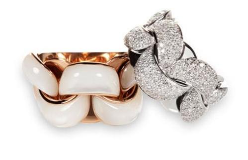 Anillos de oro y piedras preciosas