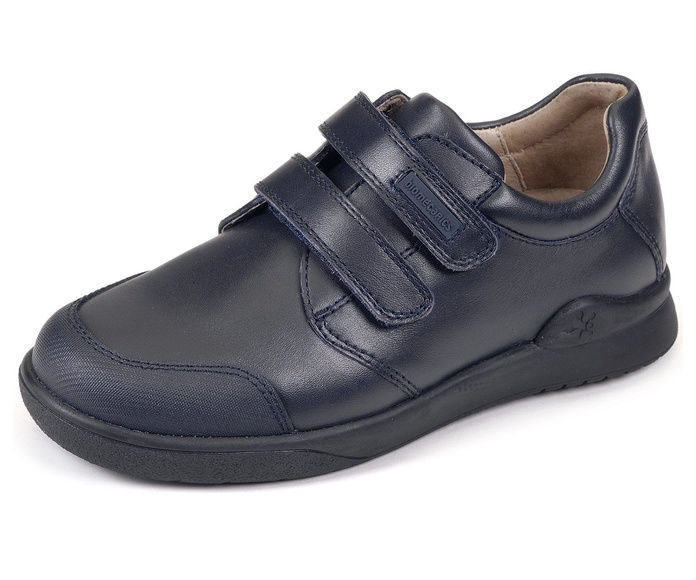 Zapato Biomecanics colegial para niños - junior. Azul marino. Tallas 24-38