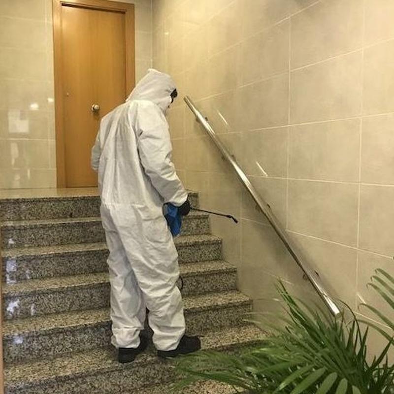 limpieza y desinfección comunidades de propietarios
