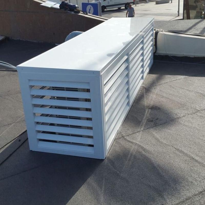 cerramiento para maquinas extracción de aire