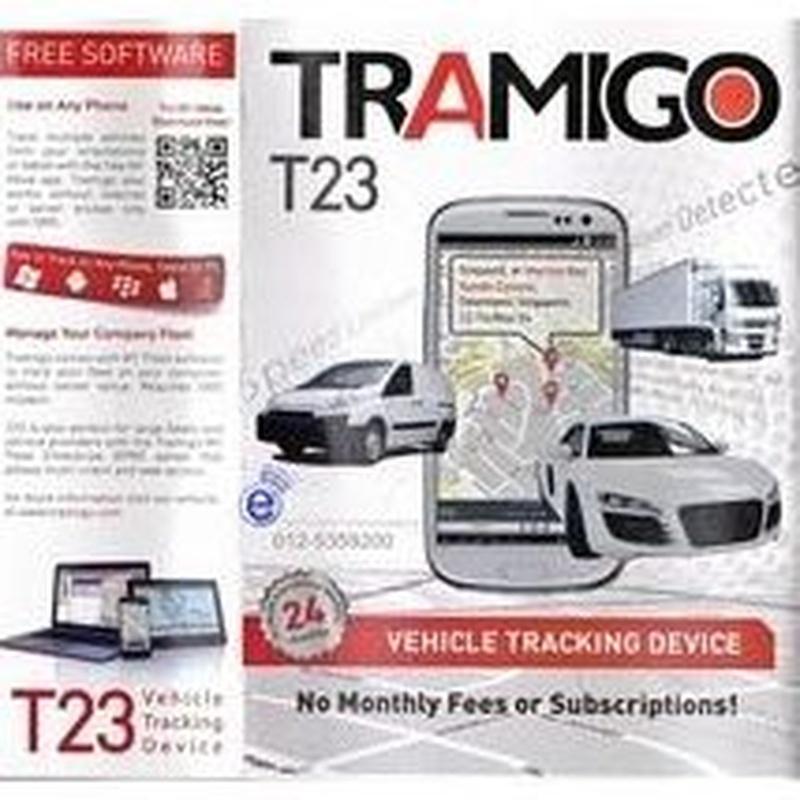 Localizador coches, motos y camión sin cuota mensual. Tramigo T23 Fleet