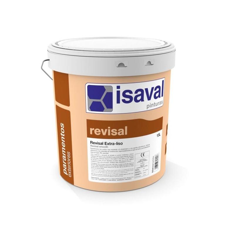 Revisal extra liso de ISAVAL en almacén de pinturas en ciudad lineal.