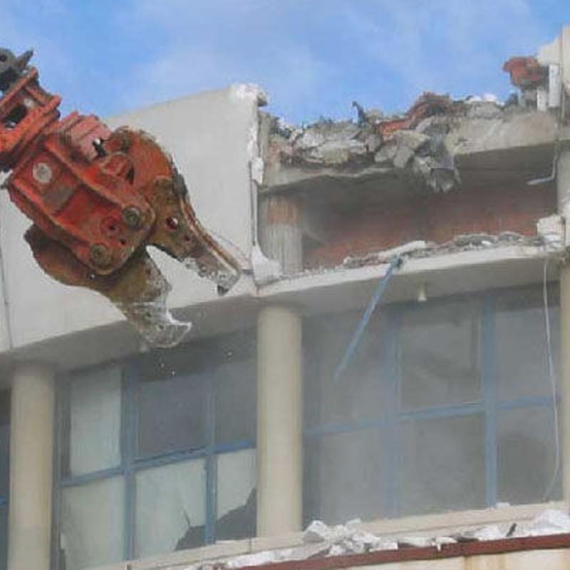 Demoliciones mecánicas: Servicios de Derribos Mateo