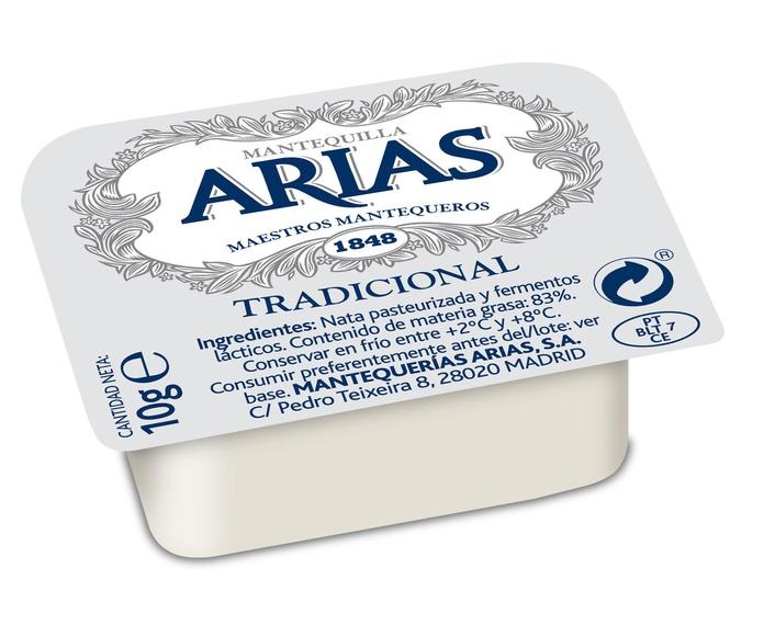 Mantequilla en Porciones de 10 Grs. Marca ARIAS