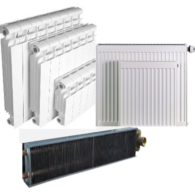 Algunos modelos de radiadores