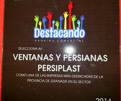 """Ventanas y Persianas Persiplast """"empresa destacada de 2014"""""""