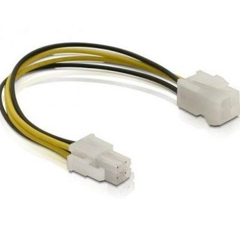 DELOCK Cable Alimentación conectores 4 pines M/H : Productos y Servicios de Stylepc