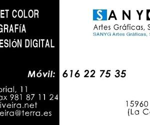 Artes gráficas en Riveira   Imprenta Sanyg