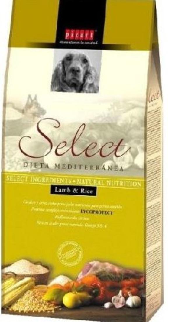 Select adult cordero y arroz 3 kg.