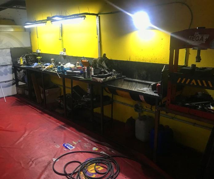 Departamento de reparación de Motores y Transmisiones.