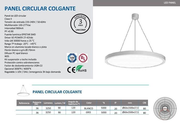 Lampara colgante 36W: Productos of Centro Led Almería