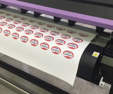 Impresión digital en vinilo textil para camisetas de Aguas Lanjaron