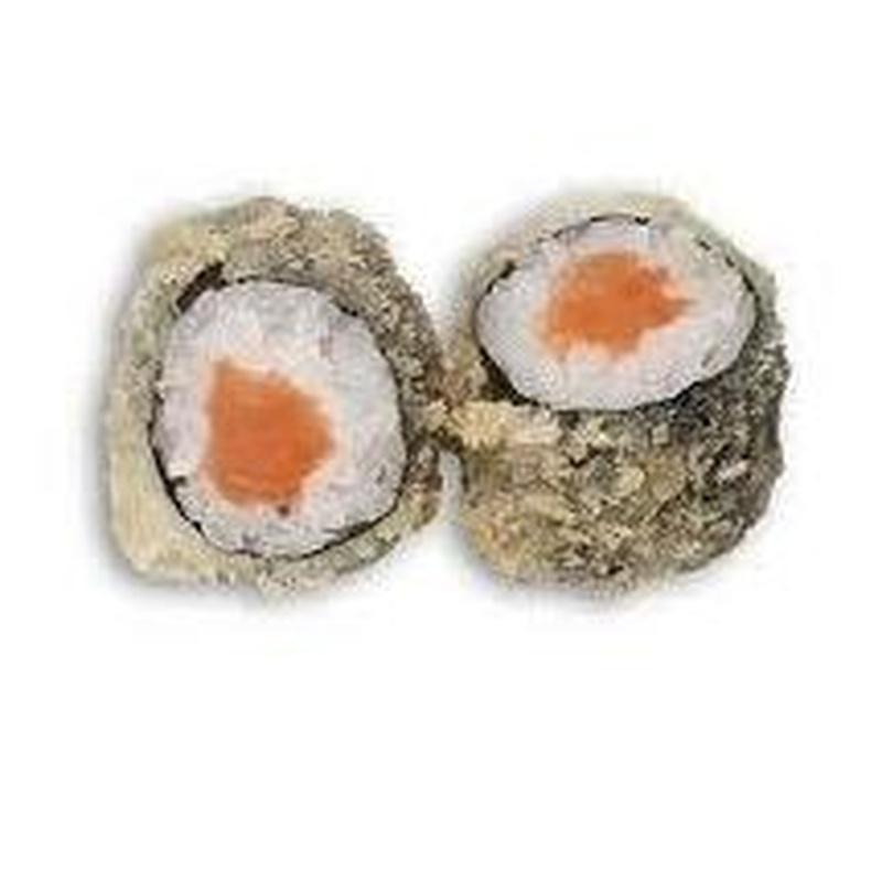 Tempura de salmón: Carta de Sushi Time Buffet Libre
