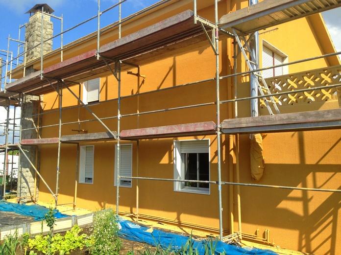 Reforma de fachadas de casa unifamiliar en Polanco