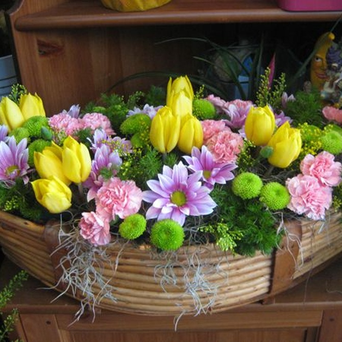 Sugerencias para preparar un original centro de flores