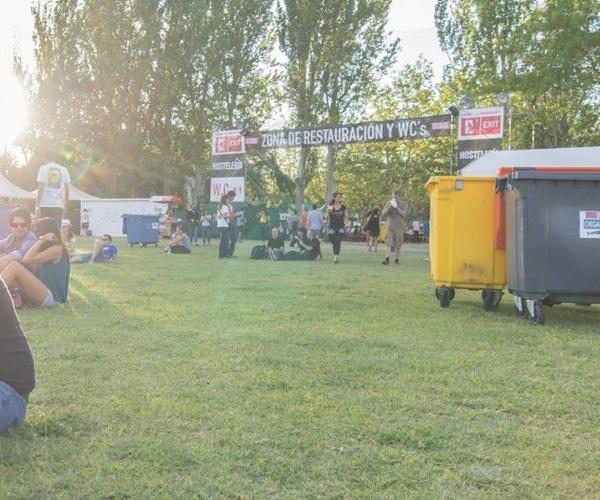 Recogida selectiva de residuos en festivales