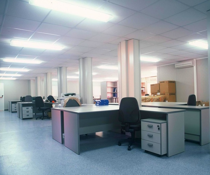 Interior oficinas prefabricadas