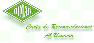 CARTA DE RECOMENDACIONES AL USUARIO.