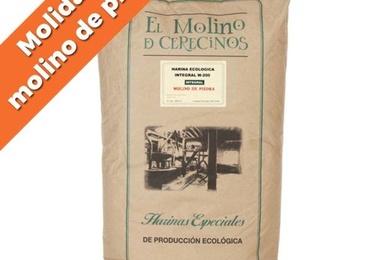 """Harina de trigo ecológica integral W-200 """"Molino de piedra"""" 25 kg"""