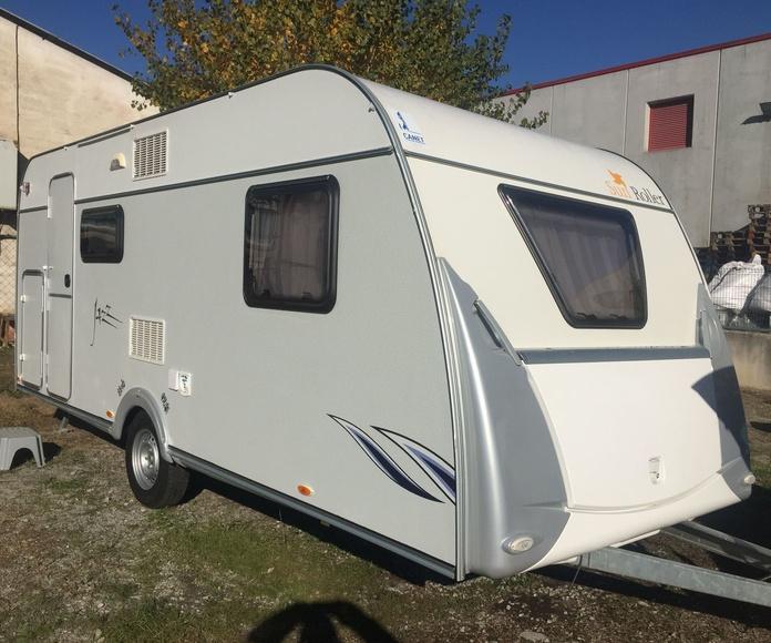 caravana sun roller 490 con aire  nevera 150 lts: Caravanas de ocasión de Caravanas Granollers
