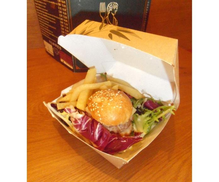 Mini burger especial: Nuestros platos de La Tapería de Columela
