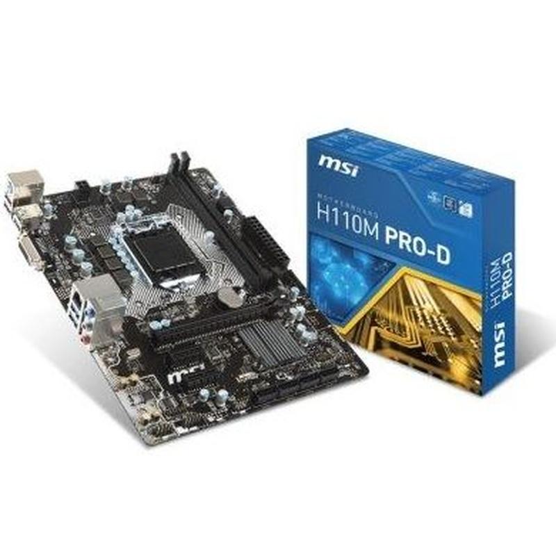 MSI Placa Base H110M PRO-D mATX LGA1151 : Productos y Servicios de Stylepc