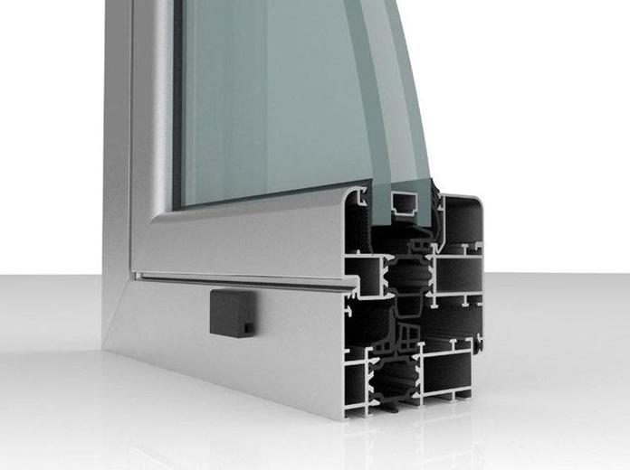 Seccion de los perfiles de una de las series con rotura de puente termico.