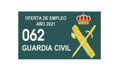 GUARDIA CIVIL: OFERTADAS 2.091 PLAZAS AÑO 2021 (BOE. 26/05/2021)