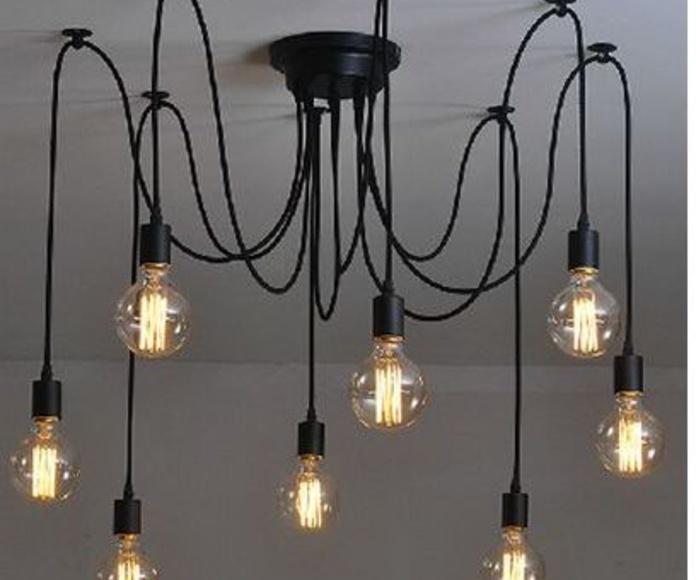 LAMPARA LED BOMBILLAS VISTAS.