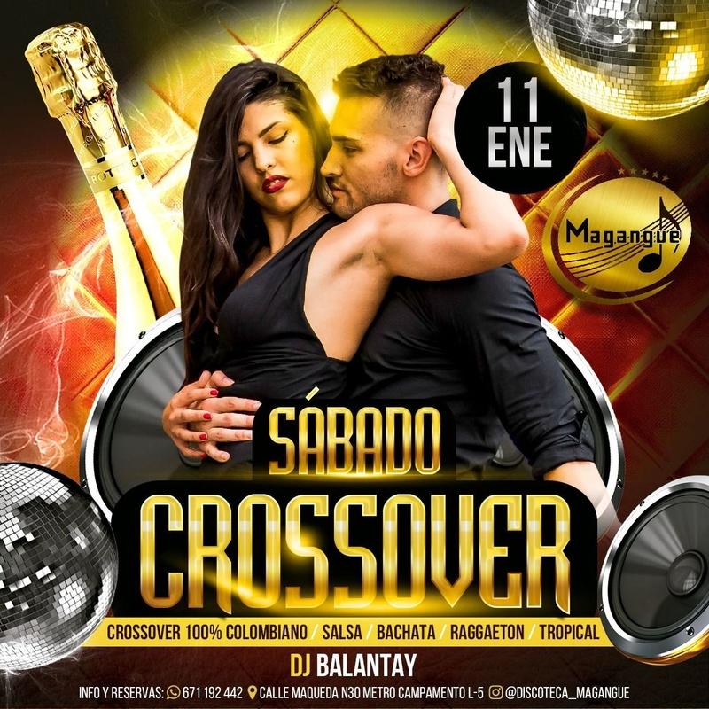 SABADO CROSSOVER : Sala y actuaciones de Magangue