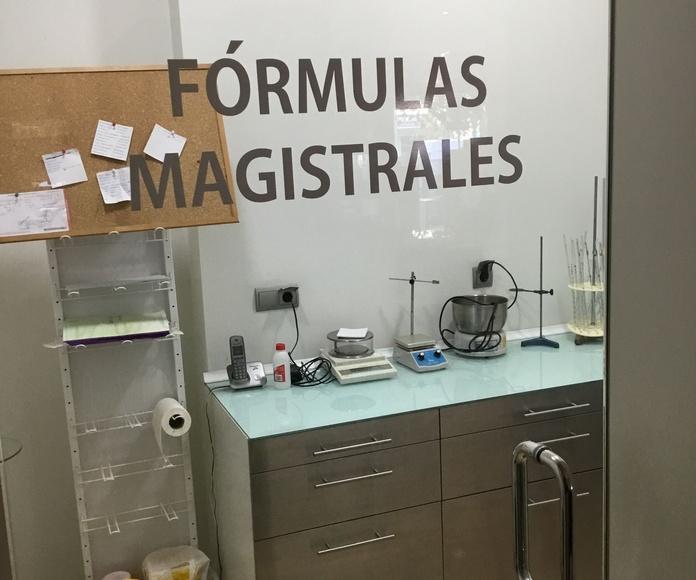 Formulación magistral: Servicios de Farmacia-Óptica Ojeda