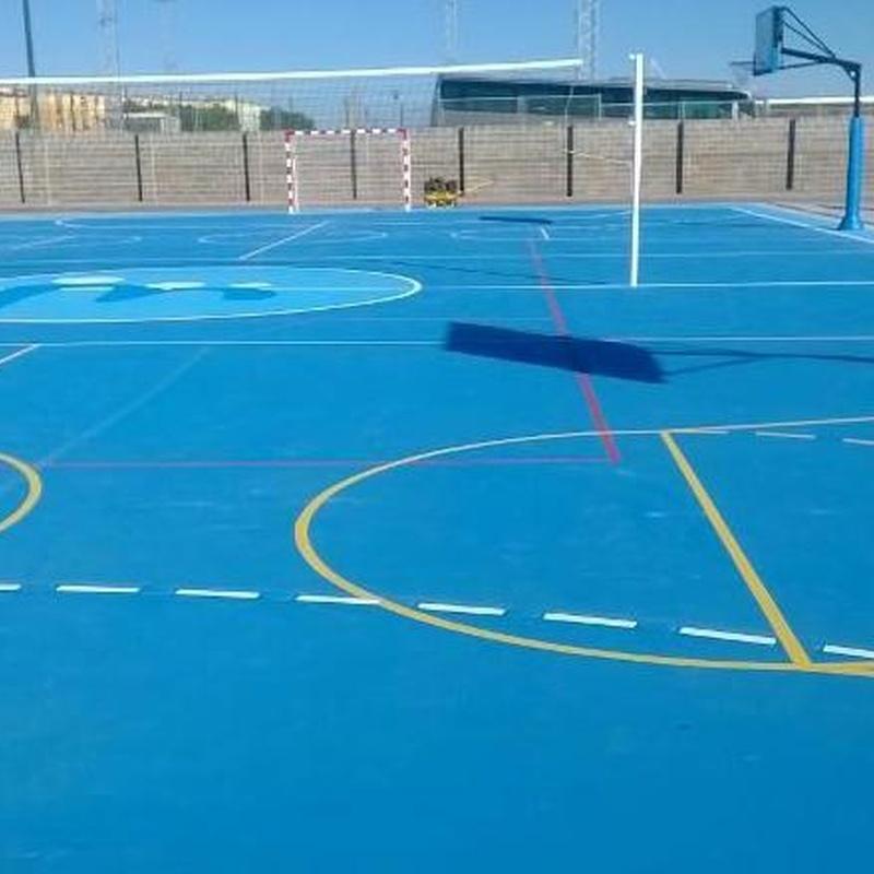Revestimientos multiusos para pistas deportivas Valencia, Pavimentos deportivos para pistas multiusos Valencia, Construccion pistas deportivas Valencia, Pavimentos para instalaciones deportivas Valencia, Revestimientos multiusos instalaciones deportivas