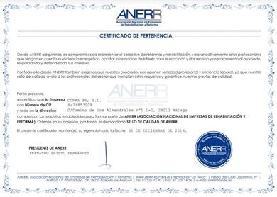 Certificado ANERR