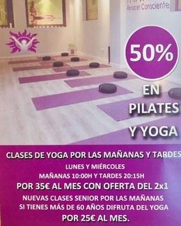 50% DE DESCUENTO EN CLASES DE YOGA Y PILATES EN CARABANCHEL (MADRID)