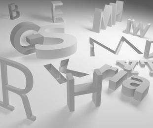 La elección de las letras en la serigrafía