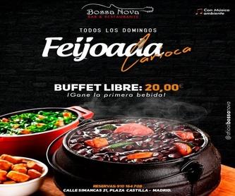 Menú martes: Catálogo de Bossa Nova Restaurante