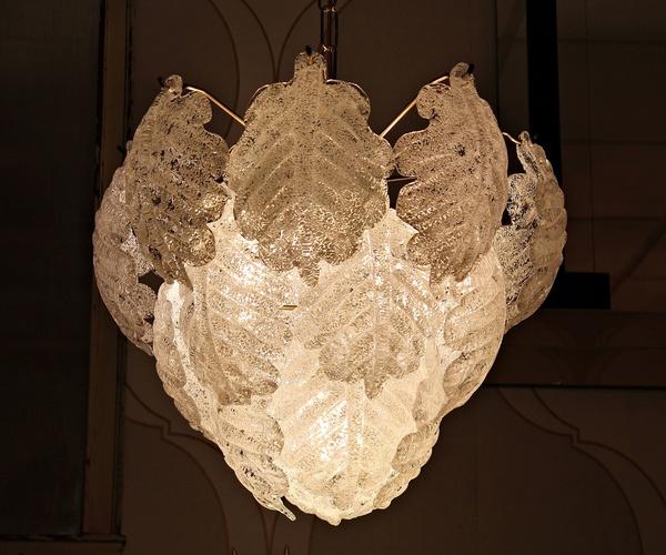 Lampara de araña cristal Murano 70s