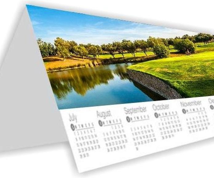 Calendario peana poliester