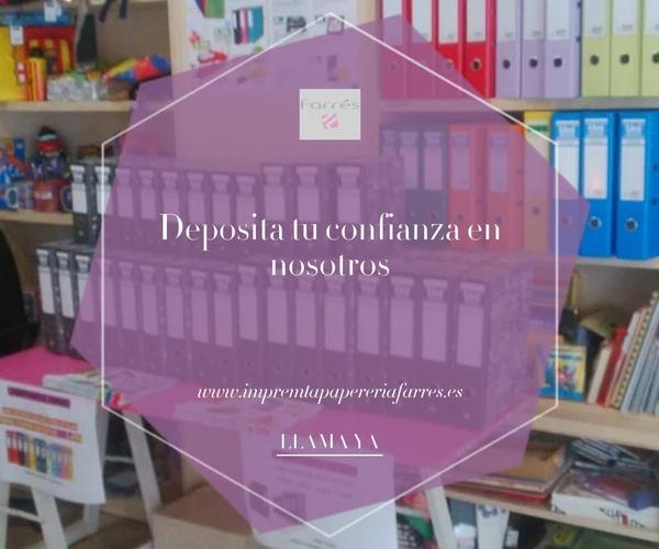 Copisterías y encuadernaciones Parets del Vallès | Impremta Paperería Farrés