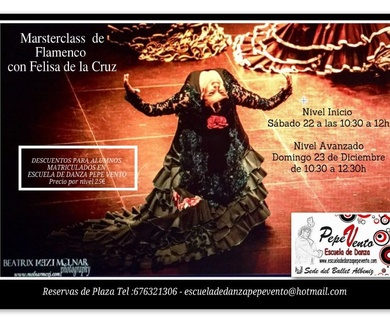 Materclass de Flamenco con Felisa de la Cruz