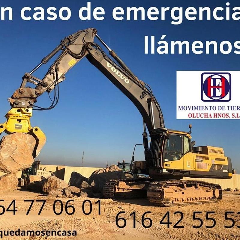 Emergencias Movimiento de Tierras Olucha Hnos: Servicios de Movimiento de Tierras Olucha Hnos.,S.L.