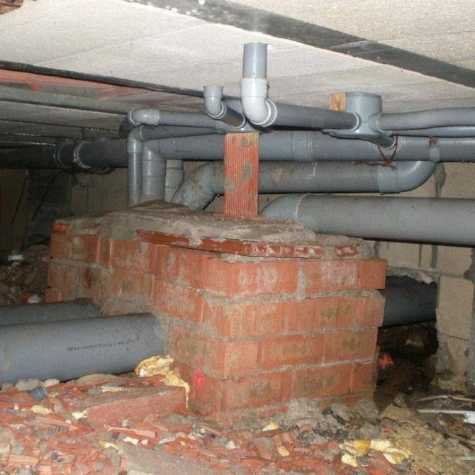Los diferentes elementos de una red de saneamiento urbana
