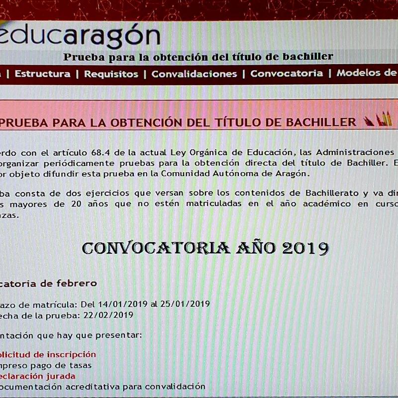 TÍTULO DE BACHILLER 2019