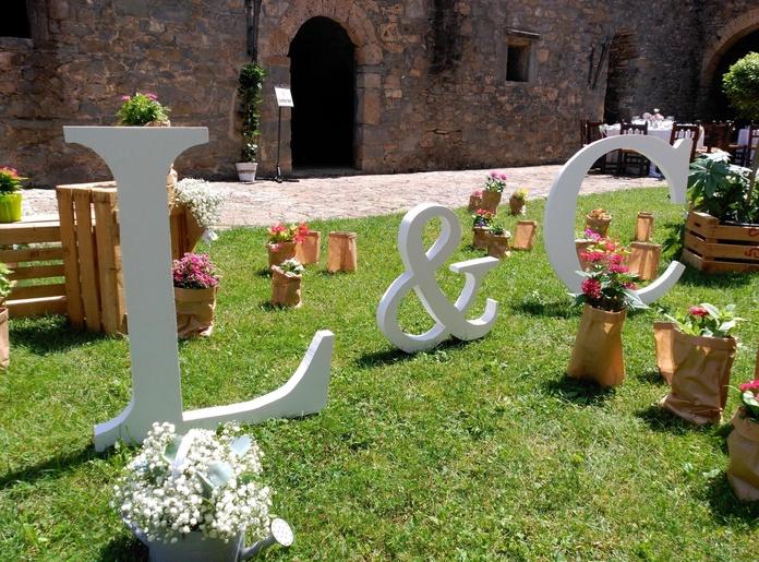 Letras para boda: Flores de Flores Benedé