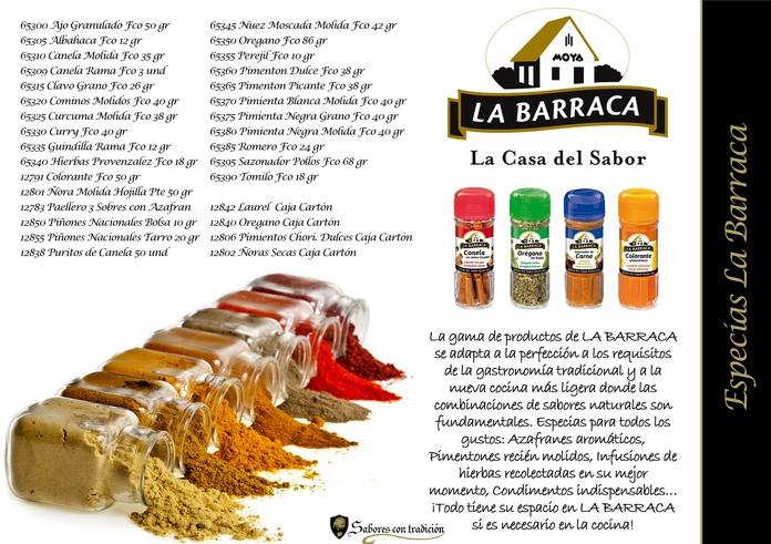 """Especias """" La Barraca """": Productos de Sabores con tradición"""