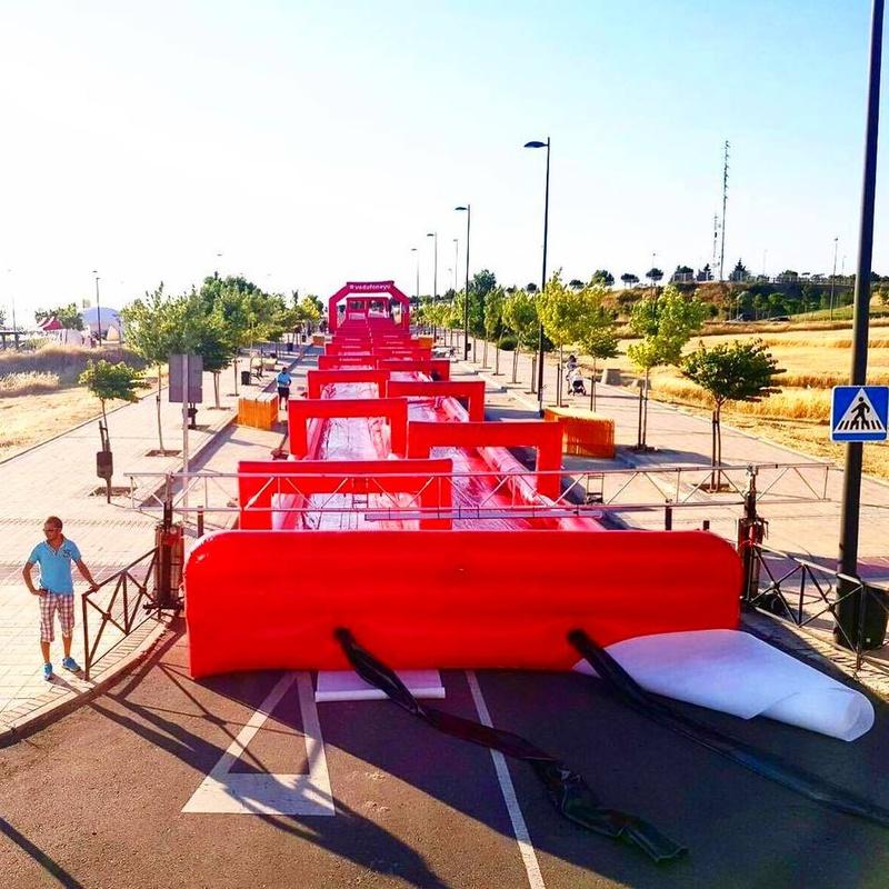 Deslizador Urbano Doble: Catálogo de Hinchables Happy Jump