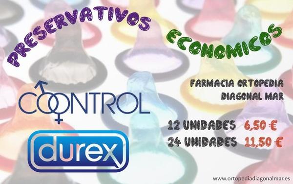 Preservativos baratos Barcelona control dúrex