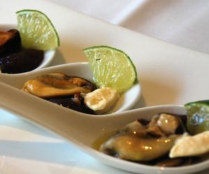 Plato de mejillones en Restaurante 2012