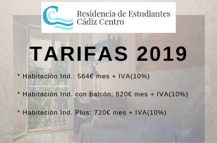TARIFAS: RESERVA TU PLAZA  de Residencia de Estudiantes Cádiz Centro
